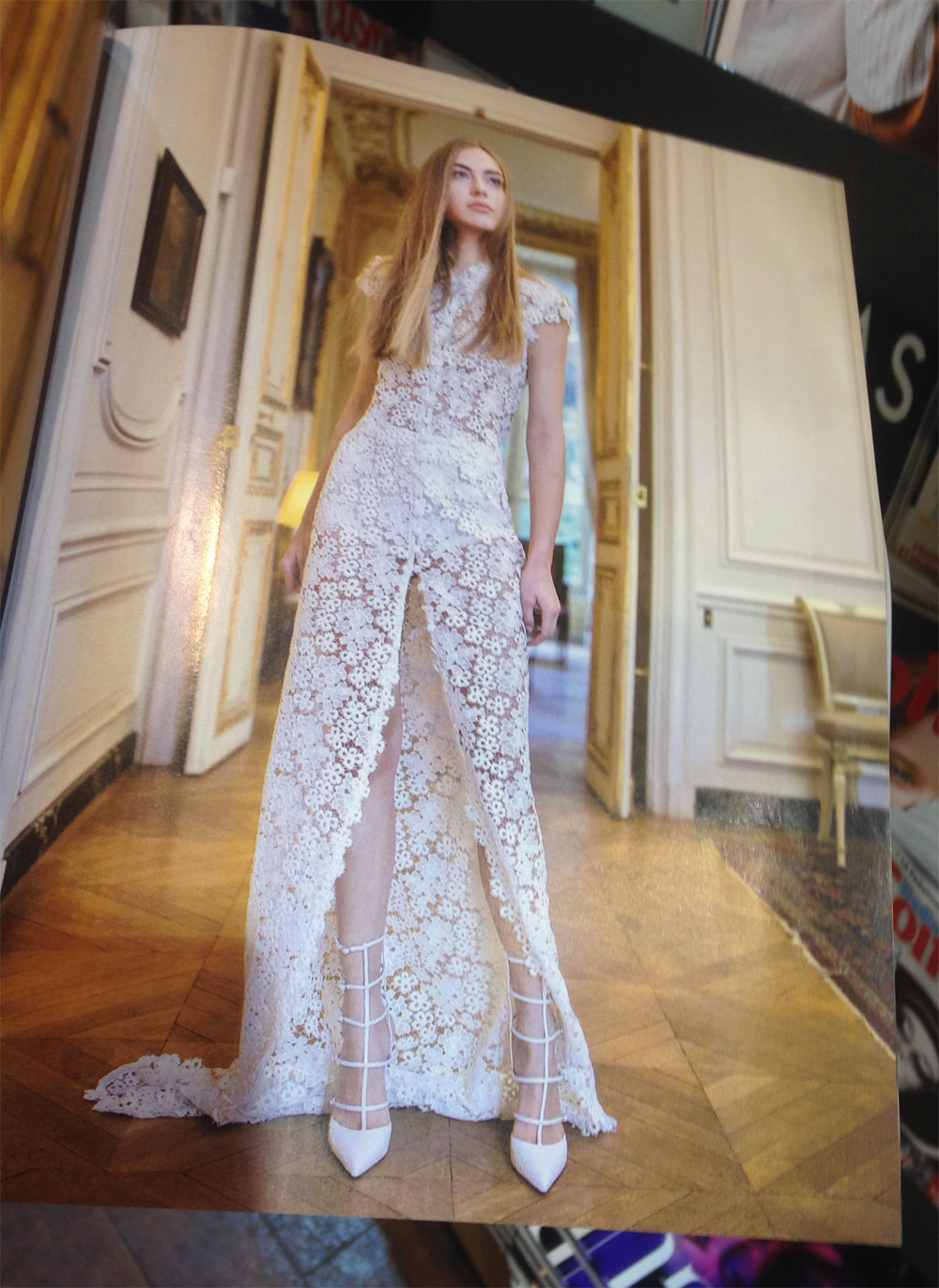 Shooting robe couture pour le magazine MARIAGES